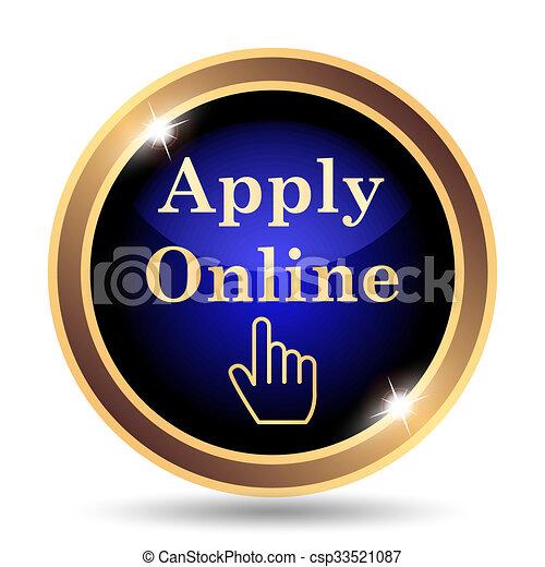 Apply online icon - csp33521087