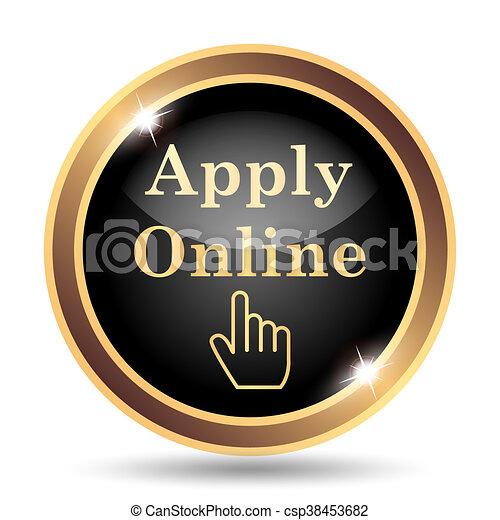 Apply online icon - csp38453682