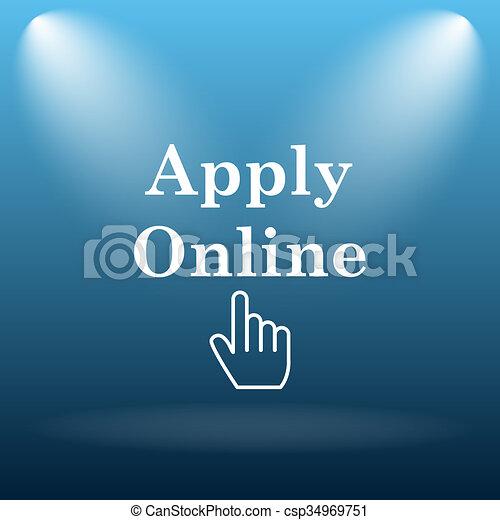 Apply online icon - csp34969751