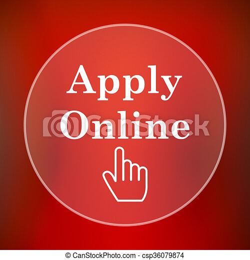 Apply online icon - csp36079874