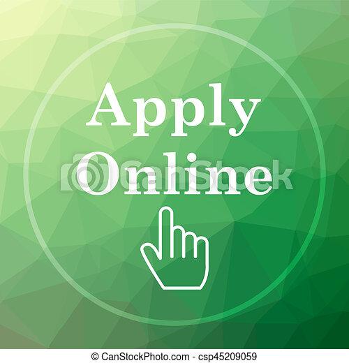 Apply online icon - csp45209059