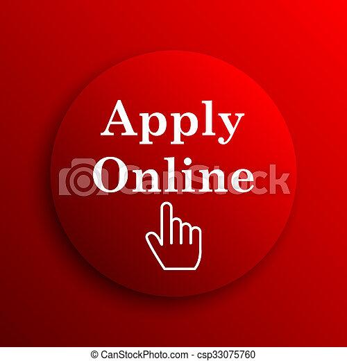 Apply online icon - csp33075760