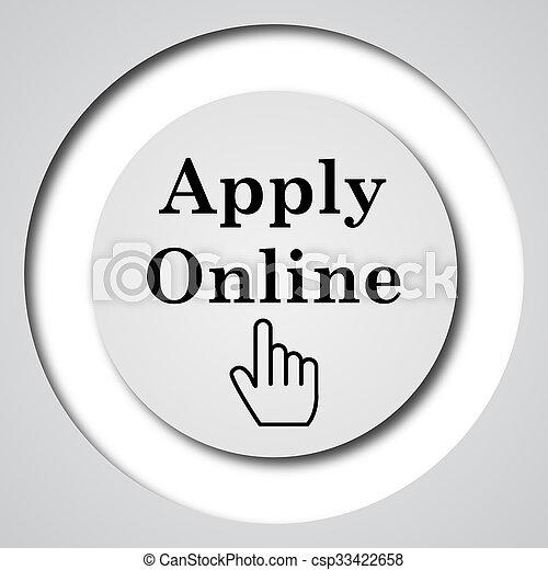 Apply online icon - csp33422658