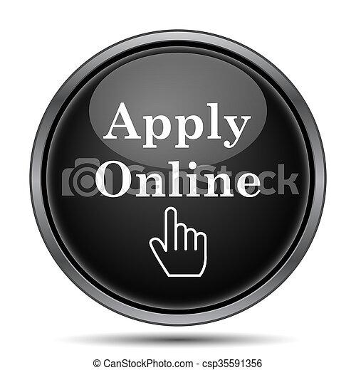 Apply online icon - csp35591356