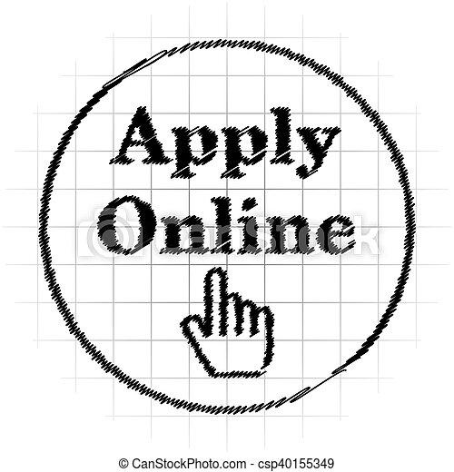 Apply online icon - csp40155349