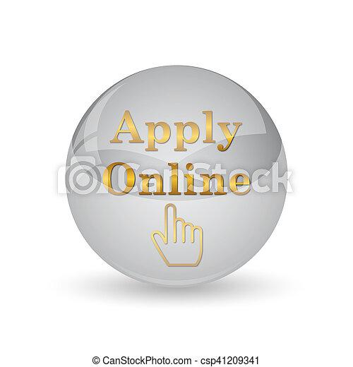 Apply online icon - csp41209341