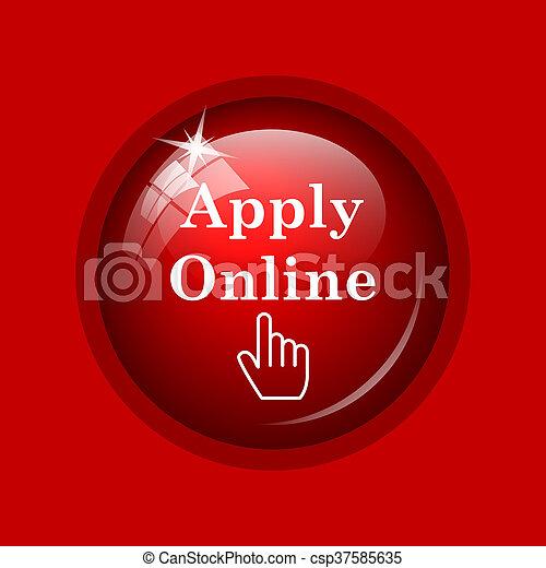 Apply online icon - csp37585635
