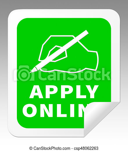 Apply Online Means Internet Job 3d Illustration - csp48062263
