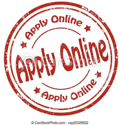 Apply Online-stamp - csp25329522