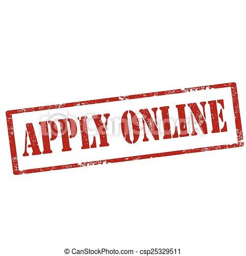 Apply Online-stamp - csp25329511