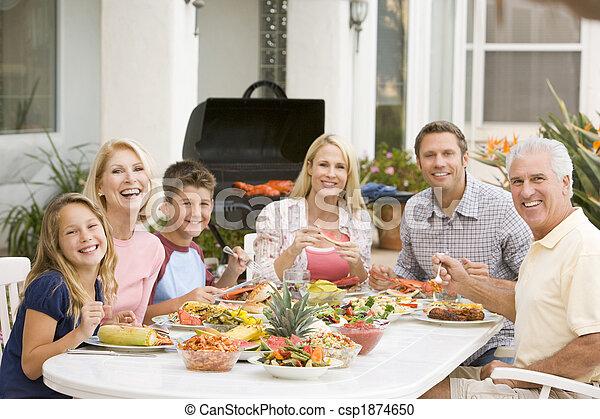 apprécier, famille, barbeque - csp1874650