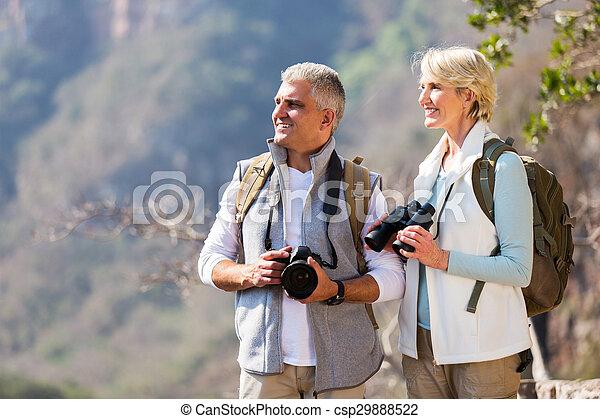apprécier, personne agee, extérieur, randonneurs, activité - csp29888522
