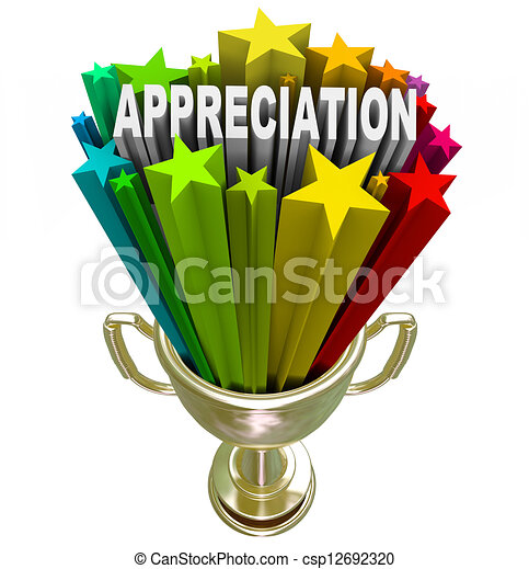 Appreciation Award - Recognizing Outstanding Effort or Loyalty - csp12692320