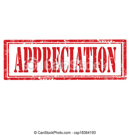 appreciation stamp grunge rubber stamp with word