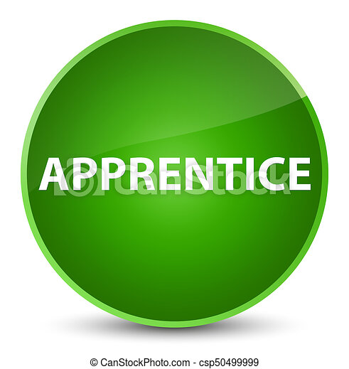Apprentice elegant green round button - csp50499999