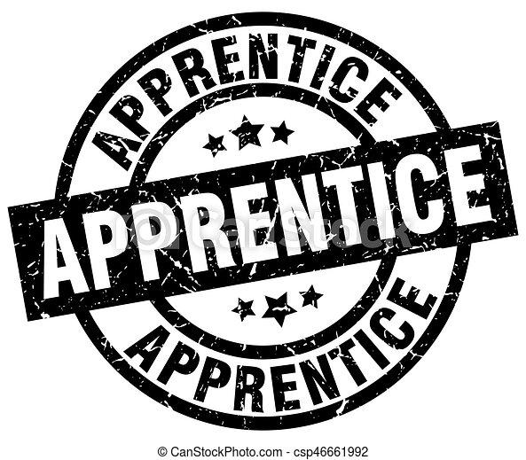apprentice round grunge black stamp - csp46661992