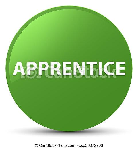 Apprentice soft green round button - csp50072703