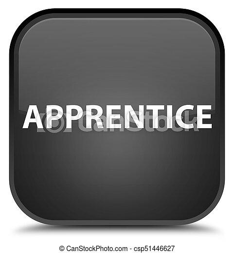 Apprentice special black square button - csp51446627