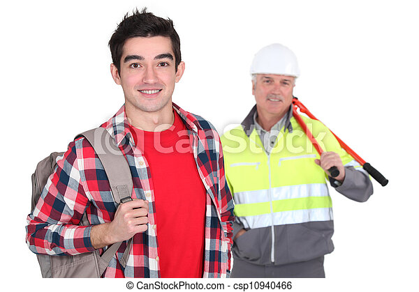 Apprentice stood with mentor - csp10940466