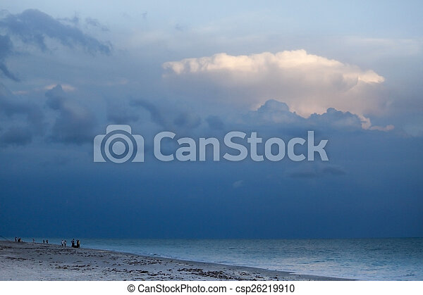 Approaching Storm on the Beach - csp26219910