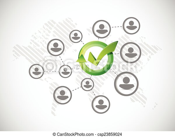 approve people network illustration design - csp23859024