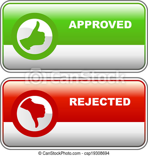 Approved and rejected - csp19308694
