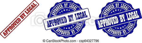 APPROVED BY LEGAL Scratched Stamp Seals - csp64327796