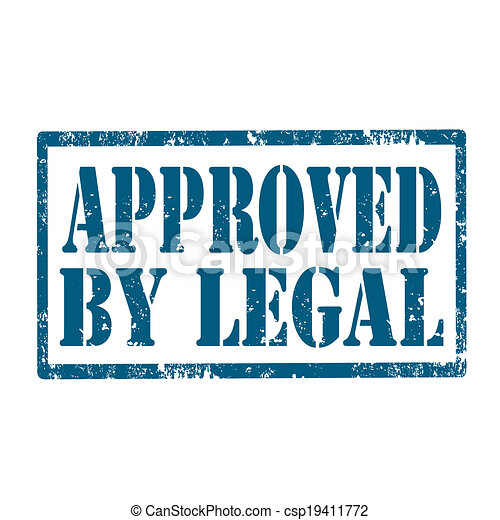 Approved By Legal-stamp - csp19411772