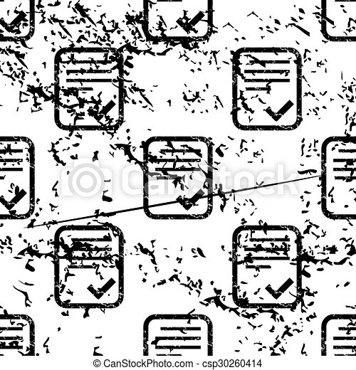 Approved document pattern, grunge, monochrome - csp30260414