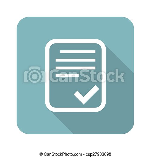Approved document square icon - csp27903698