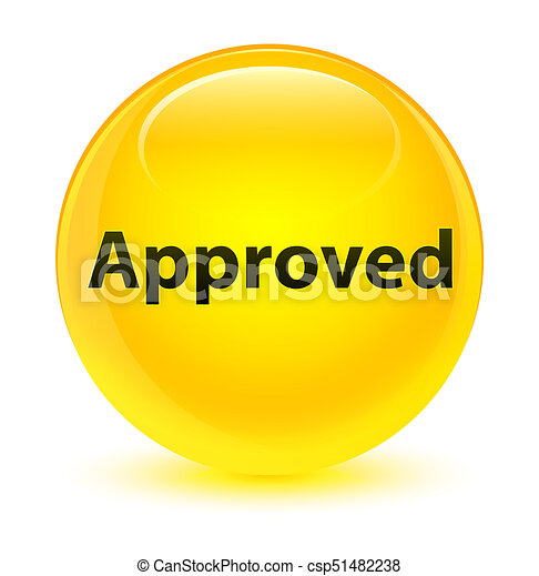 Approved glassy yellow round button - csp51482238