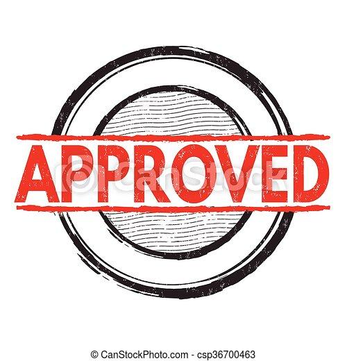 Approved grunge stamp - csp36700463