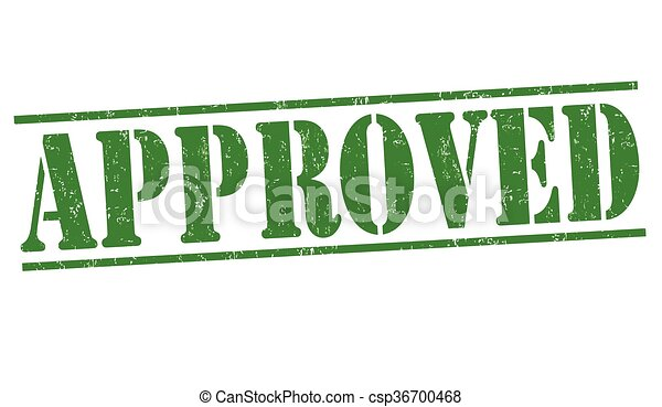 Approved grunge stamp - csp36700468