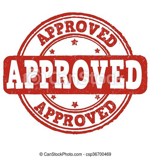 Approved grunge stamp - csp36700469
