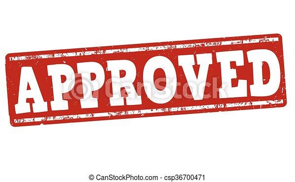 Approved grunge stamp - csp36700471