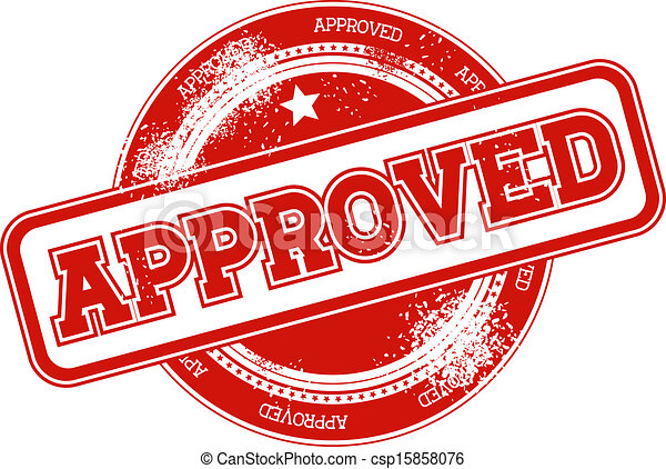 approved grunge stamp vector - csp15858076