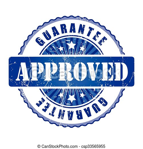Approved  Guarantee Stamp.  - csp33565955