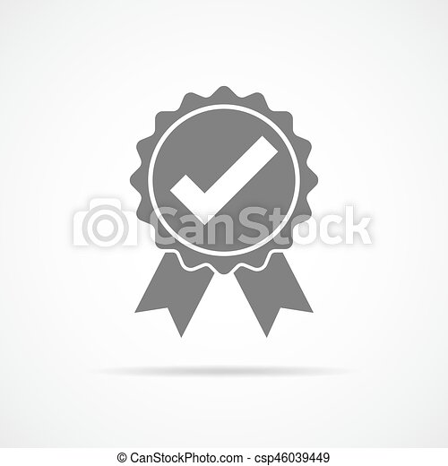 Approved icon. Vector illustration. - csp46039449