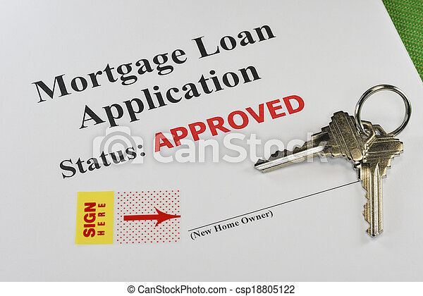 Approved Real Estate Mortgage Loan Document Ready For Signature - csp18805122