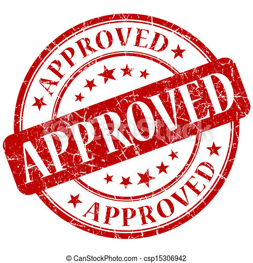 Approved red stamp - csp15306942