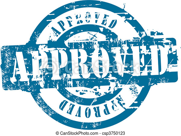 Approved rubber stamp - csp3750123