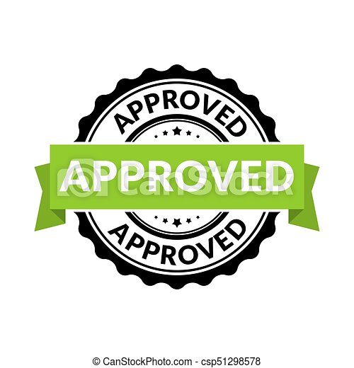 approved seal stamp sign vector rubber round permission symbol for