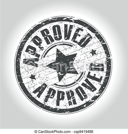 approved stamp - csp9419486