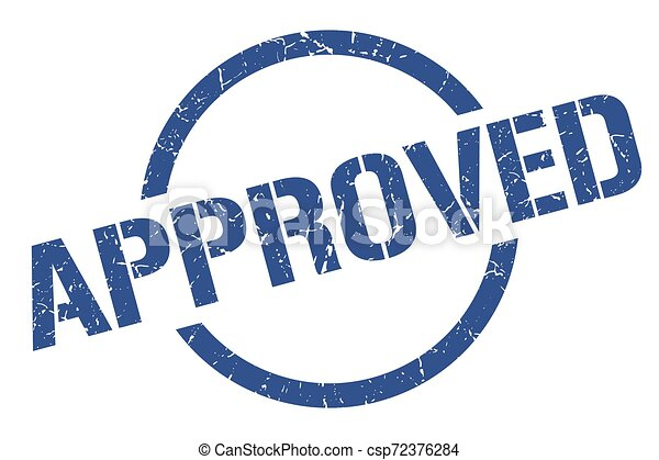 approved stamp - csp72376284