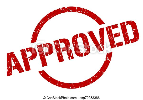 approved stamp - csp72383386