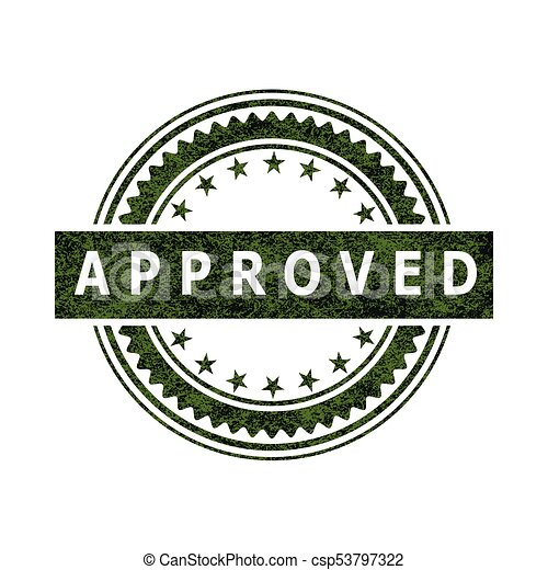 approved stamp icon sign illustration seal of approval as an icon