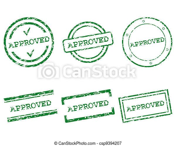 Approved stamp - csp9394207