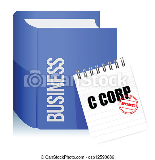 Approved stamp on a C corporation legal document - csp12590086