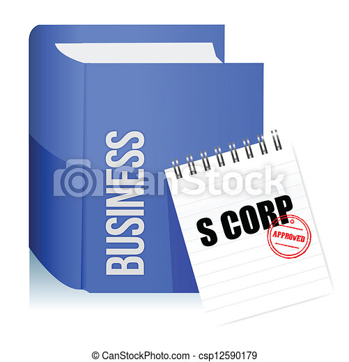 Approved stamp on a s corporation legal document - csp12590179