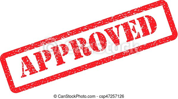 Approved stamp red - csp47257126